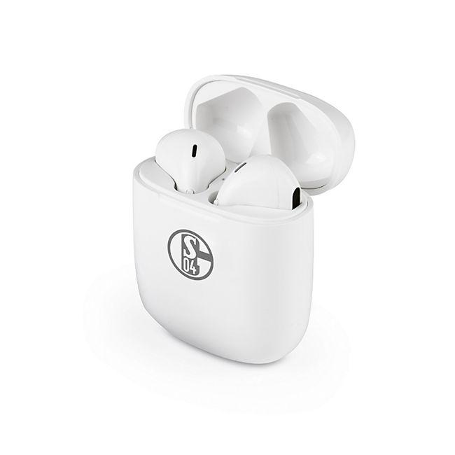 S04 Kopfhörer In-Ear Bluetooth 5V weiß/grau mit Logo - Bild 1