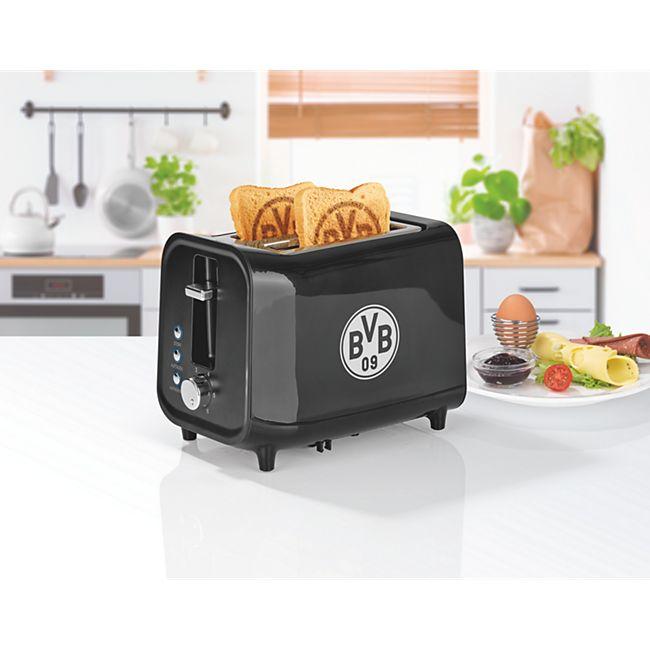 BVB Toaster mit Soundfunktion 800W schwarz/silber - Bild 1