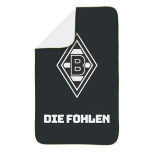 BMG Sporthandtuch Deluxe 80x130cm schwarz/weiß/grün inkl. Mesh-Bag - Bild 1