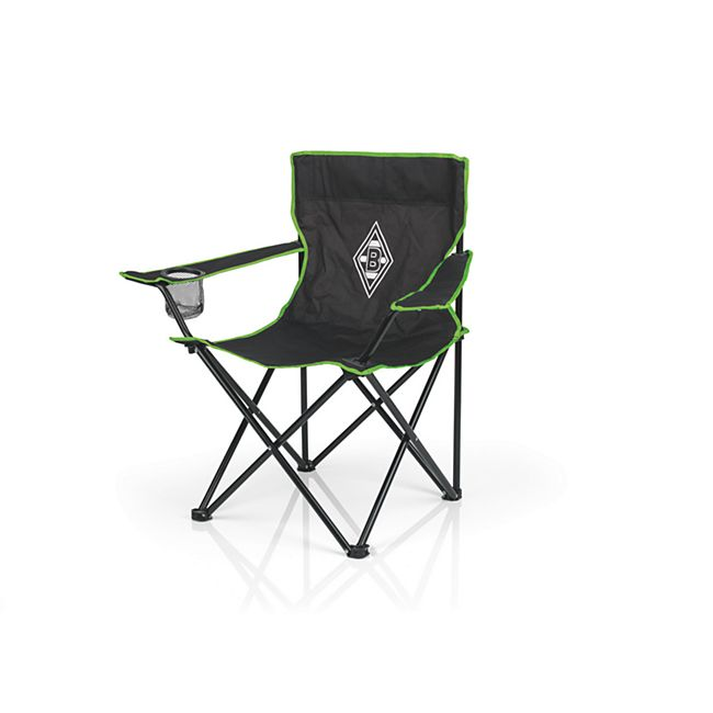 BMG Campingstuhl faltbar 80x50cm schwarz/grün mit Logo - Bild 1