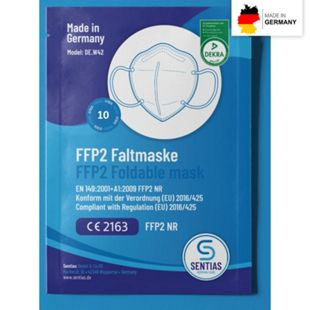 Atemschutzmaske FFP2 10er-Set Made in Germany - Bild 1