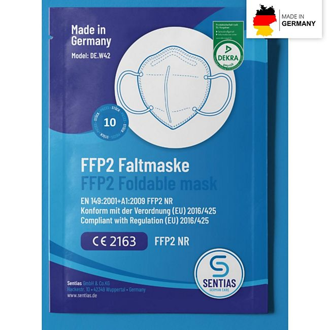 Mund-Nasen-Masken FFP2 10er-Set Made in Germany - Bild 1
