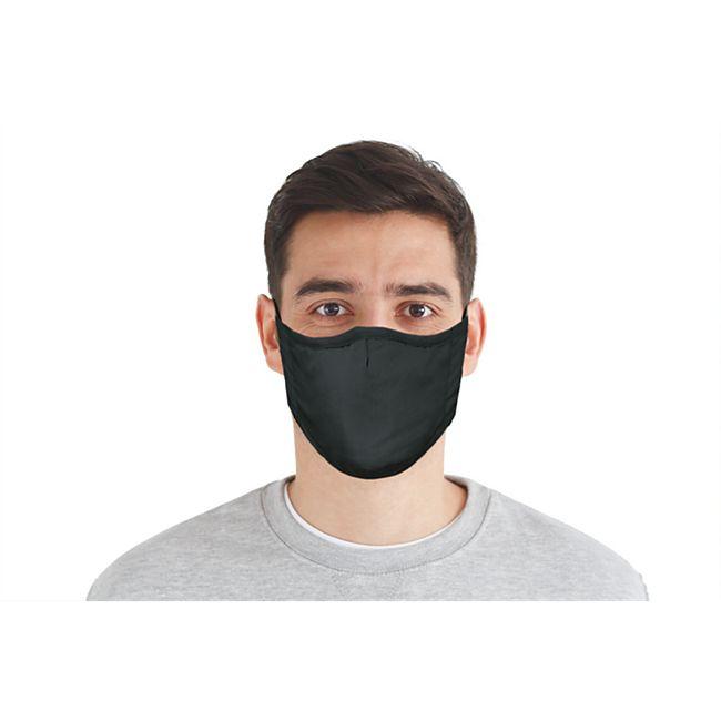 Mund-Nasen-Masken 3er-Set blau/grau/schwarz - Bild 1