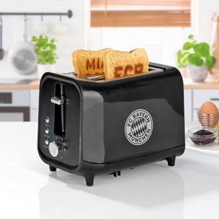 FCB Toaster mit Soundfunktion 800W schwarz/silber - Bild 1