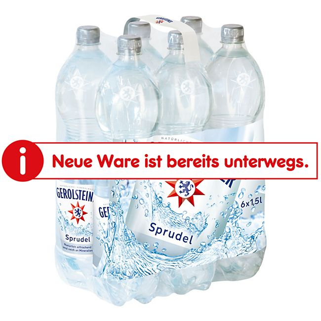 Gerolsteiner Mineralwasser Sprudel 1,5 Liter, 6er Pack - Bild 1