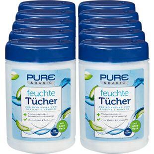 Pure & Basic Feuchte Tücher 150 Stück, 10er Pack - Bild 1