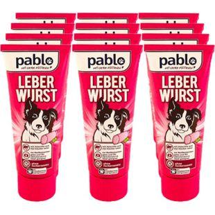 Pablo Hundenahrung Leberwurst 75 g, 12er Pack - Bild 1
