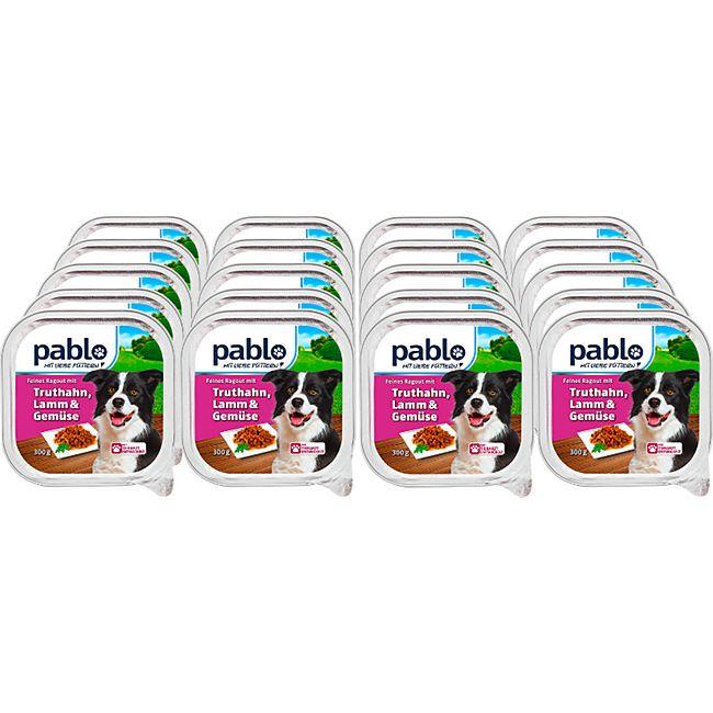 Pablo Hundenahrung Truthahn, Lamm & Gemüse 300 g, 20er Pack - Bild 1