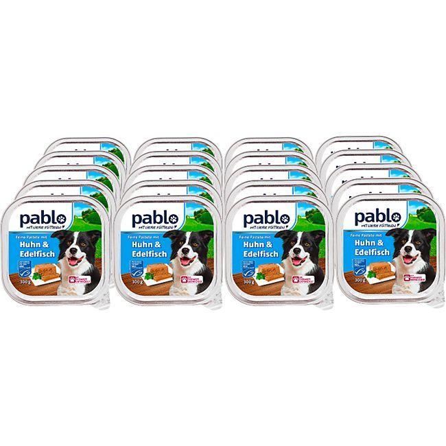 Pablo Hundenahrung Huhn & Edelfisch 300g, 20er Pack - Bild 1