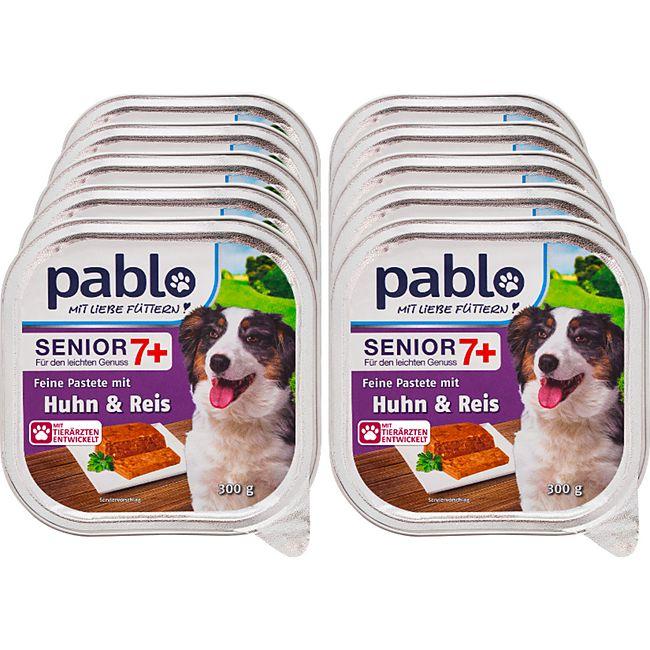 Pablo Pastete Senior mit Huhn 300 g, 10er Pack - Bild 1