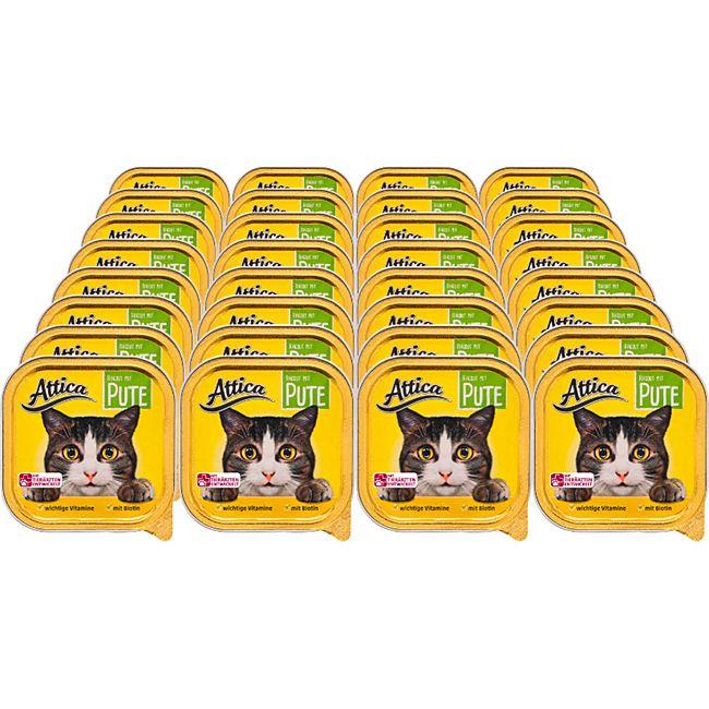 Attica Katzennahrung Ragout Pute 100 g, 32er Pack - Bild 1