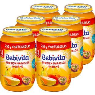 Bebivita Pfirsich mit Maracuja in Apfel ab 6. Monat 250 g, 6er Pack - Bild 1