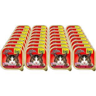 Attica Katzennahrung Rind 100 g, 32er Pack - Bild 1