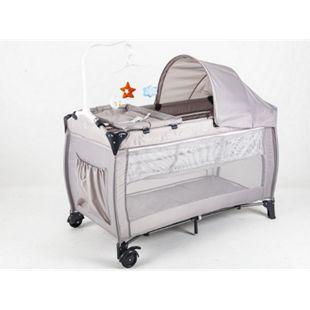Blij'r Dormi - Reisebett mit Wickeltisch, fahrbar, inkl. Karussell und Markise, Farbe Grau - Bild 1