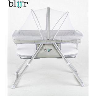 Blijr Golfy 2 in 1 Tragetasche und Reisebett inklusive Schaukelfunktion mit Moskitonetz Farbe Lichtgrau - Bild 1