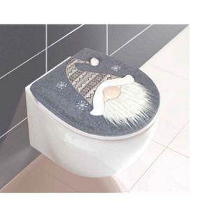Dekor WC-Deckelbezug Weihnachtsmann - Bild 1