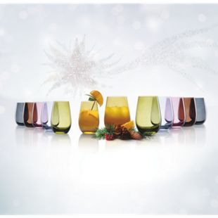 Oberglas buntes Gläserset, 12 teilig - Bild 1