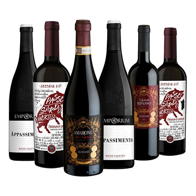 Weinpaket Passione 13,5 - 15 % vol 6 x 0,75 Liter - Bild 1