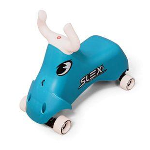 SLEX RodeoBull Rutschfahrzeug in blau Kinder Rutschauto ABEC 3 Longboard Rollen bis 35kg - Bild 1