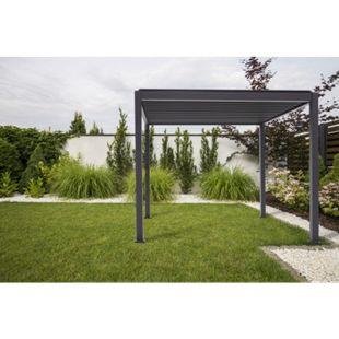 Mirador Pavillon mit verstellbaren Lamellen schwarz 3,00 x 3,00  x 2,40 m - Bild 1