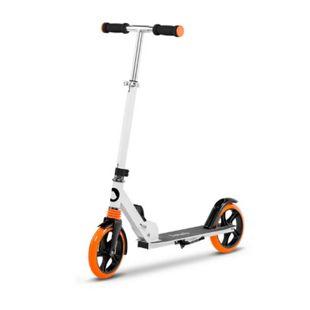 Lionelo Luca Roller Weiss Orange Kinder Tretroller bis 100kg Räder 200mm Bremse zusammenklappbar - Bild 1