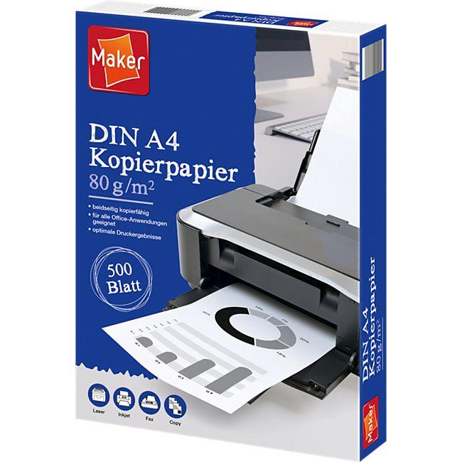 Maker Kopierpapier 80g 500 Blatt - Bild 1