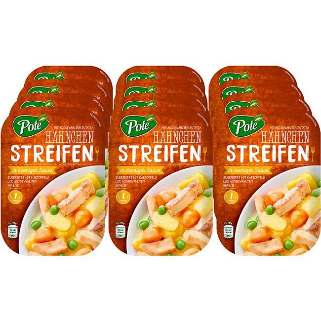 Pote Hähnchenstreifen in Sauce 300 g, 12er Pack - Bild 1