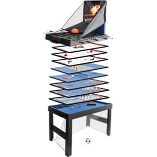 Tischkicker MCW-J16, Tischfußball Billard Hockey 20in1 Multiplayer Spieletisch, MDF 174x107x60cm ~ schwarz - Bild 1