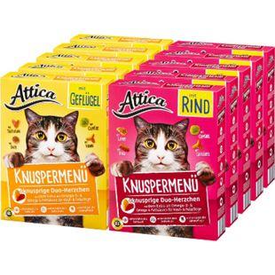 Attica Katzennahrung Knuspermenü 1 kg, verschiedene Sorten, 10er Pack - Bild 1