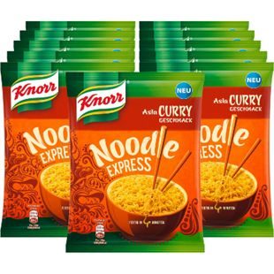 Knorr Asia Express Nudeln Curry 70 g, 11er Pack - Bild 1