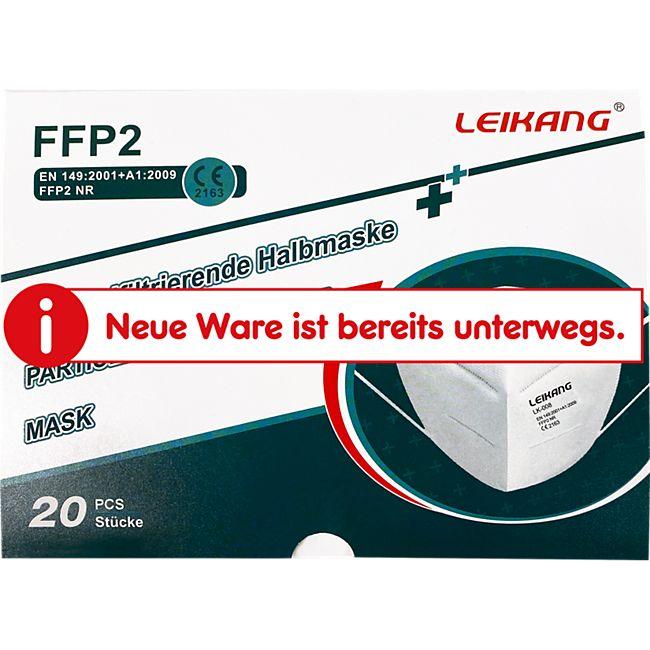 FFP2-Maske CE-Zertifiziert, 20 Stück - Bild 1