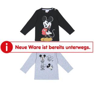 Baby Lizenz Langarm T-shirt , 2er Pack für Jungen, Mickey Mouse, Gr. 62/68 - Bild 1