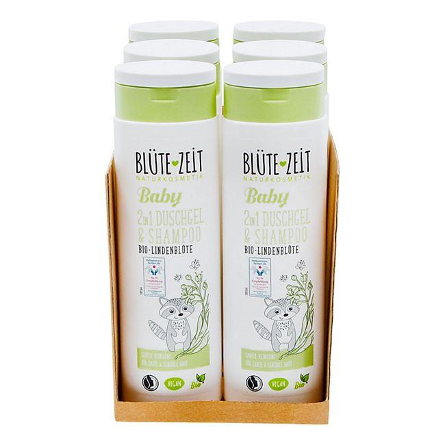 BLÜTE-ZEIT BABY 2in1 Duschgel & Shampoo Bio-Lindenblüte 300 ml, 6er Pack - Bild 1