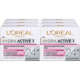L'Oreal Hydra Active 3 Tagescreme 50 ml, 6er Pack - Bild 1