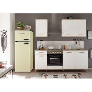 Respekta Premium Retro Küchenzeile BERP265RE 265cm weiß - Eiche sägerau Optik - Bild 1