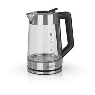 MAXXMEE Glas-Wasserkocher Smart Deckel 2200W Edelstahl/schwarz - Bild 1