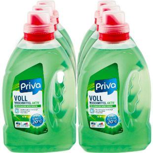 Priva Vollwaschmittel flüssig 27 Waschladungen, 6er Pack - Bild 1