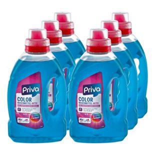 Priva Colorwaschmittel flüssig 27 Waschladungen, 6er Pack - Bild 1
