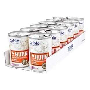 Pablo Hundenahrung Reich an Huhn 400 g, 12er Pack - Bild 1
