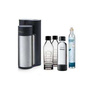Sodapop Harold Black Matt inkl. 2 Glaskaraffen, 1 PET Flasche u. 1 CO2-Zylinder 60L - Bild 1