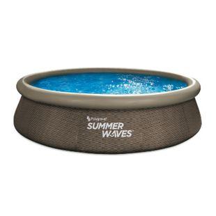 Summer Waves Quick Pool 366x76 cm, rattan braun - Bild 1