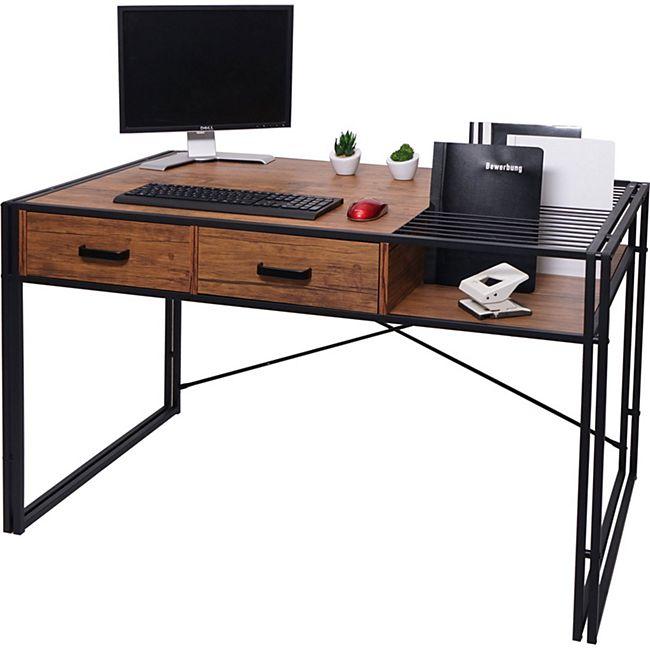 Schreibtisch MCW-H91, Bürotisch Computertisch, Industrial 76x120x70cm ~ braun - Bild 1