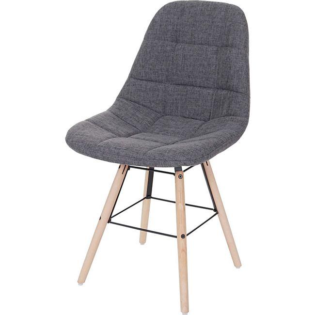 Esszimmerstuhl MCW-A60 II, Stuhl Küchenstuhl, Retro 50er Jahre Design ~ Stoff/Textil grau - Bild 1