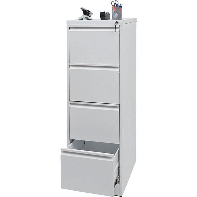 Hängeregisterschrank MCW-H16, Aktenschrank Büroschrank Stahlschrank, Format Legal abschließbar 134x46x62cm ~ weiß - Bild 1