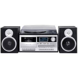 Trevi TT 1072 DAB Stereo Turntable System mit Digital DAB schwarz - Bild 1