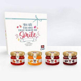 Schwartau Mini-Konfitüre Geschenkset, verschiedene Sorten, 9 Gläschen x 28,3 g - Bild 1