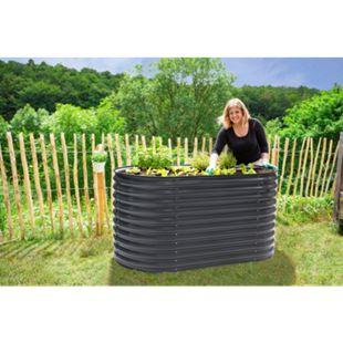 Westmann Metall Hochbeet Gartenbeet Grow Faster anthrazit 160x80x82cm - Bild 1