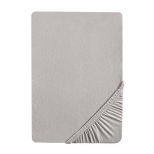 Microfaser-Spannbettlaken Interlock - 90-100 x 190-200 cm - silber - Bild 1