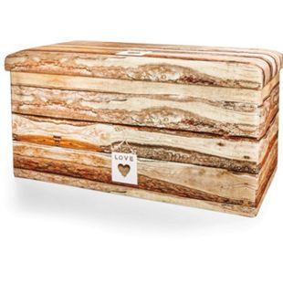 Sitztruhe -  Motiv Holz - Bild 1