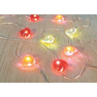 LED Lichterdraht - Design rote Herzen - Bild 1